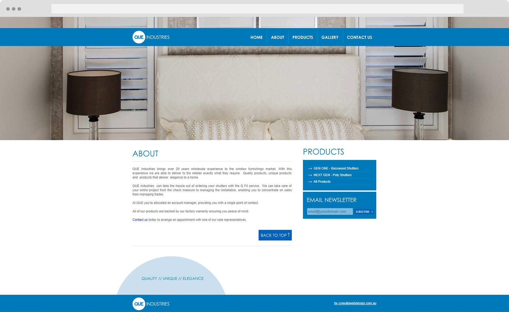 Que Industries - Web Design Cronulla - Cronulla Web Design