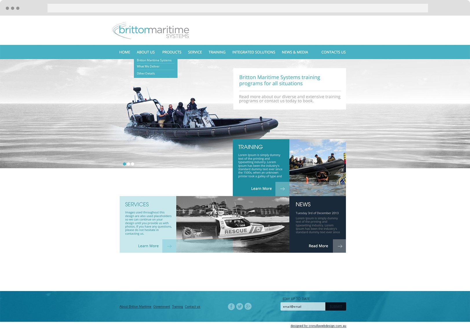 Britton Maritime - Web Design - Cronulla Web Design